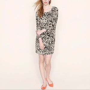 J CREW Jules Snowcat Leopard Print Dress Sz 8